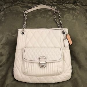 Coach quilted leather tote